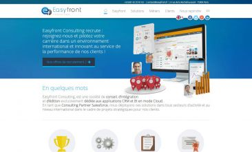 Easyfront Consulting - Site vitrine