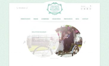 French Antique Wedding - Site catalogue