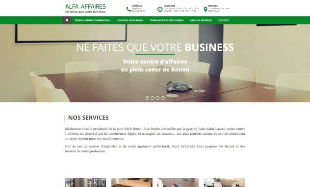 Alfa Affaires - Site vitrine
