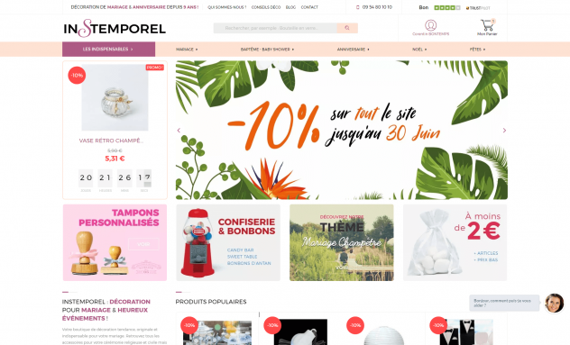 Instemporel - Site e-commerce