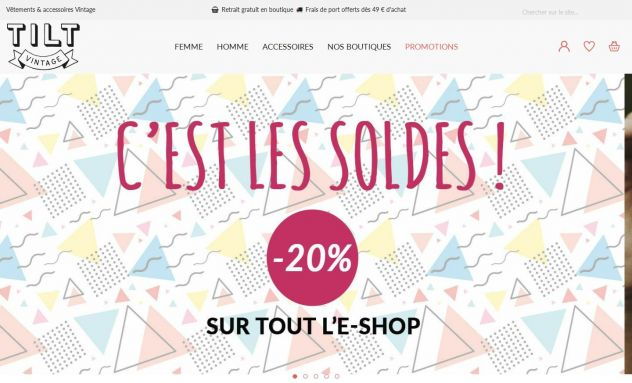 Tilt Vintage - Site e-commerce