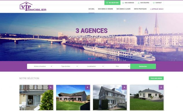 VIP Immobilier - Site immobilier